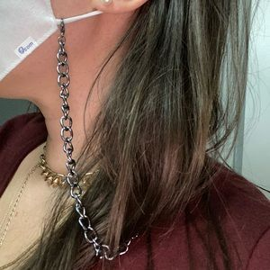 Gunmetal mask chain